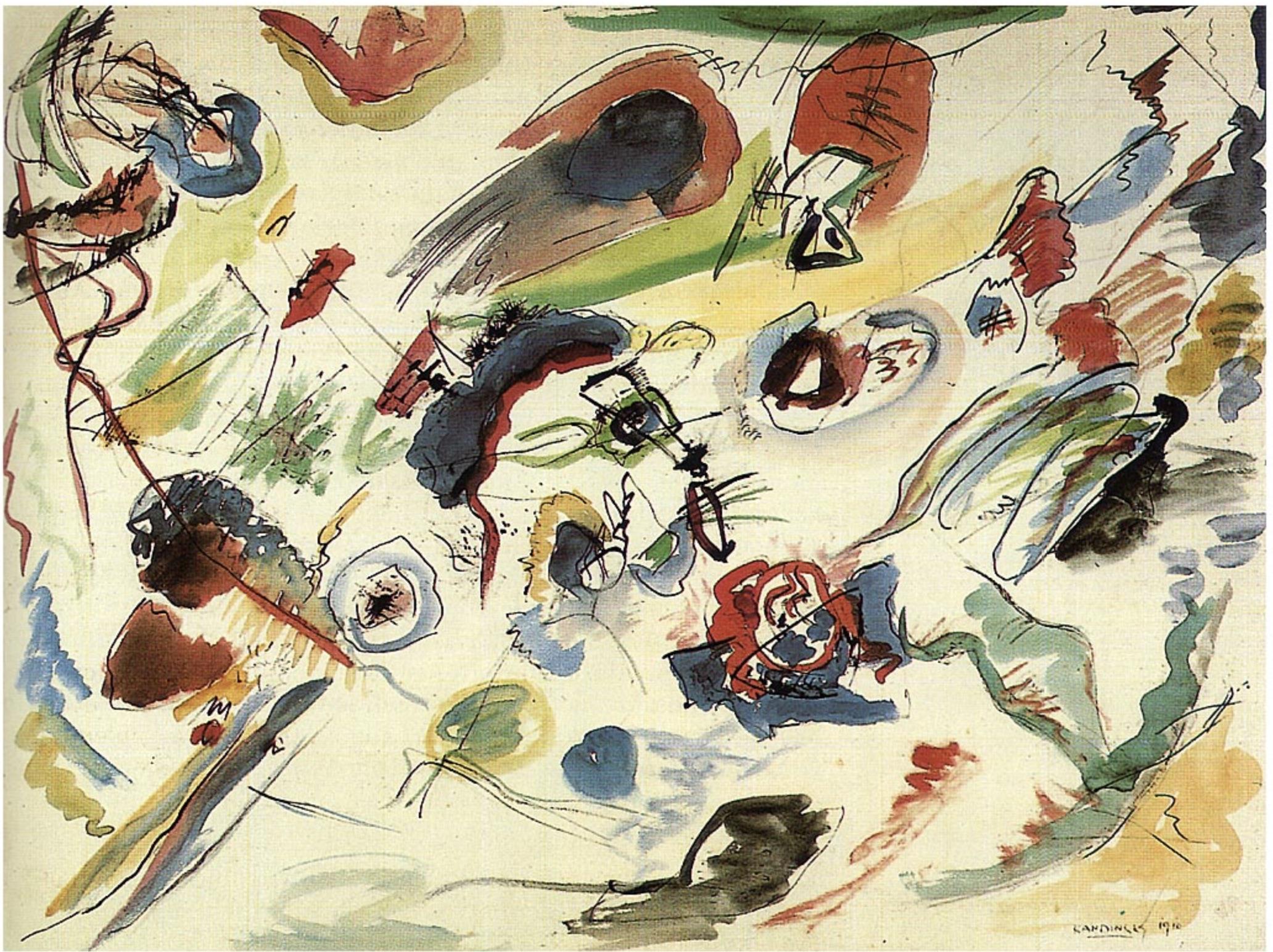 Kandinsky Art Paint First Grade